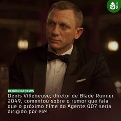 """#CoxinhaNews O diretor falou que """"Não posso falar sobre isso. Mas digamos que para mim fazer um filme do Bond seria um grande prazer.""""  #TimelineAcessivel #PraCegoVer  Imagem do agente 007 (Daniel Craig) e a notícia: Denis Villeneuve diretor de Blade Runner 2049 comentou sobre o rumor que fala que o próximo filme do Agente 007 seria dirigido por ele!  TAGS: #coxinhanerd #nerd #geek #geekstuff #geekart #nerd #nerdquote #geekquote #curiosidadesnerds #curiosidadesgeeks #coxinhanerd…"""