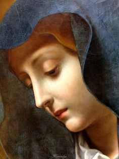 Carlo Dolci Madonna (detail) Statens Museum for Kunst, DK. Blessed Mother Mary, Blessed Virgin Mary, Renaissance Paintings, Renaissance Art, Religious Paintings, Religious Art, Baroque Painting, Madonna Art, Our Lady Of Sorrows