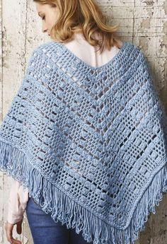 Women's poncho crochet pattern
