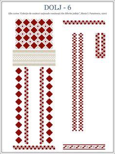 Semne Cusute: martie 2013 Cross Stitch Borders, Cross Stitch Flowers, Cross Stitching, Cross Stitch Patterns, Embroidery Motifs, Shirt Embroidery, Beading Patterns, Knitting Patterns, Palestinian Embroidery