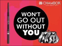 A waterproof and long-lasting eyeliner pencil with an excellent colour pay-off. Chambor's Stay-On Waterproof Eyeliner Pencil is an absolute handbag essential!