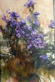 Purple beauty , Oil on canvas , 30x50 inches , 1500 USD ( Sold )