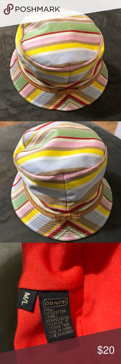 2ee1e6488d8 Vintage Coach bucket hat. Great for beach. EUC. Has a few minor water