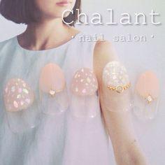 #chalant#シャラン#吉祥寺#ネイルサロン#nail#nails#art#gel#ネイル#ジェル#吉祥寺ネイルサロン#フレンチ#シェル#ラメ#ピンクベージュ#上品ネイル#初夏ネイル
