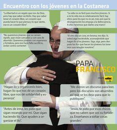[INFOGRAFÍA] Frases resaltantes del @Pontifex_es durante el encuentro con los jóvenes en la Costanera #PapaenPy