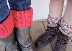 Ribbed Boot Cuffs :: free #crochet boot cuff patterns