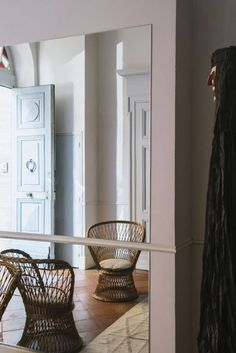 How would a French costumier style her own stately country house? With quiet, rosy hues, cinematic hints of silver, and linens she sews herself. For months we've been following French stylist and costumier Céline Sathal on Instagram as she slowly and with care restores a traditionalhôtel particulierin a tiny village outside of Tolouse. Sathal, who […] Houses In France, Comfortable Living Room Chairs, French Country House, Rustic Kitchen Decor, Ikea Hack, Cabin Homes, Interior Design Inspiration, Design Ideas, Interior Styling