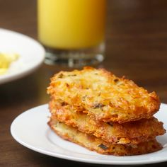 Brunch it up!  Cheesy Baked Hash Brown Patties