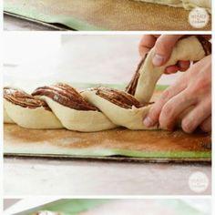 Chleb pleciony z nutellą. - chleb / bułki - Smakuje Gotuje Twoja Książka Kucharska