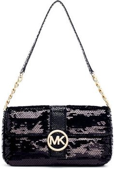 b67e249aba52 MICHAEL Michael Kors Fulton Sequined Small Flap Bag - ShopStyle Shoulder