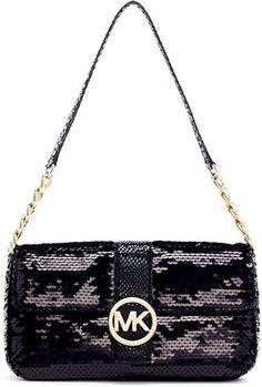 618bd7218e MICHAEL Michael Kors Fulton Sequined Small Flap Bag - ShopStyle Shoulder