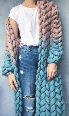 Discover thousands of images about crochet cardigan, crochet cardigan pattern free, crochet cardigan pattern, crochet cardigan pattern free easy, crochet cardigan pattern free women Crochet Clothes, Diy Clothes, Crochet Cardigan Pattern Free Women, Crochet Pattern, Shrug For Dresses, Knitted Coat, Knitwear Fashion, Knitted Blankets, Merino Wool Blanket