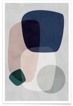 Graphic 190 Mini Art Print by Mareike BaPhmer - Without Stand - x Art Encadrée, Art Mural, Modern Art Prints, Framed Art Prints, Canvas Prints, Modern Artwork, Inspiration Art, Art Moderne, Art Design