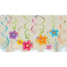 Luau Swirl Decorations Value Pack | 12ct for $4.33 in Luau - Theme Parties - Theme & Event Parties