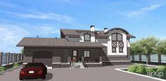 жилой дом: архитектура, 2 эт   6м, жилье, эклектика, 200 - 300 м2, фасад - штукатурка, коттедж, особняк #architecture #2fl_6m #housing #eclecticism #200_300m2 #facade_plaster #cottage #mansion arXip.com