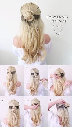 Hair Tutorial | VERY Easy Summer Braided Top Knot | Grace and Braver