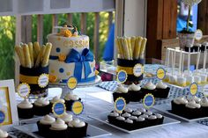 this would be cute for a baby shower too, cigars, cupcakes, cake, and marshmallow pops :)