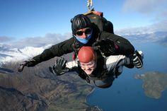 My first skydive!! Queenstown, New Zealand