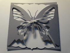 Faire part de mariage - thème papillon dentelle : Faire-part par scrap83