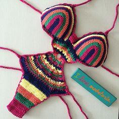 Shop stylish women's swimwear at FABKINI & find tankinis, bikinis, one-piece swimsuits, monokinis & more. Crochet Bikini Pattern, Swimsuit Pattern, Crochet Bikini Top, Knit Crochet, Crop Tops Crochet, Crochet Bathing Suits, Crochet One Piece, Crochet Disney, Cute Underwear