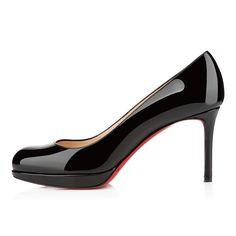 NEW SIMPLE PUMP VERNIS,NOIR,Vernis,Women Shoes,louboutin.