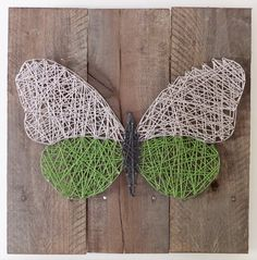 Hey, I found this really awesome Etsy listing at https://www.etsy.com/listing/234286432/string-art-butterfly-on-reclaimed-wood