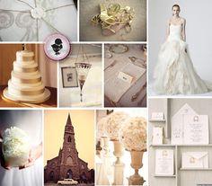 decoração, casamento, branco e dourado, festa