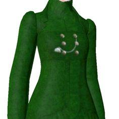Green Felt Coat by ldanielb - The Exchange - Community - The Sims 3