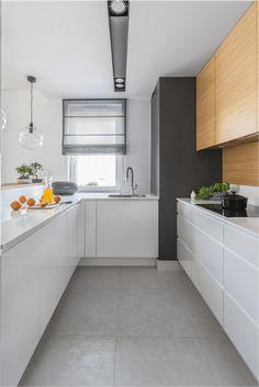 Decoroom | Projektowanie wnętrz Warszawa, projekty wnętrz Kitchen Furniture, Furniture Design, Home Interior Design, Kitchen Design, Kitchen Cabinets, House Design, Simple, Home Decor, Rooms