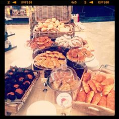 Some delicious pastry at our #breakfast to indulge yourself. #croissants #muffins #cheesecake #hotel #luxurytravel