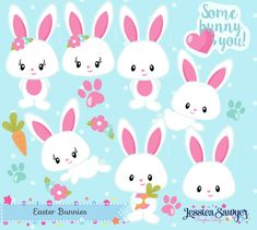 INSTANT DOWNLOAD Bunny Clipart and by JessicaSawyerlol