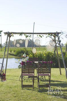 Puesto Viejo Estancia and Polo Club, ambientación, casamiento, boda, wedding, decor, boho chic,  ceremonia, ceremony, atrapasueños