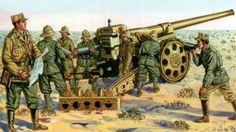 Italian 149/40 Heavy Artillery piece in North Africa