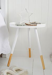 white small bedside table