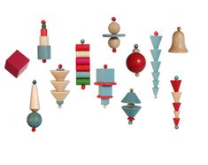 If you're a design nerd looking for respectable ornaments to adorn your tree, Ameico has you covered! These wood-turned Christmas ornaments, originally designed in 1929/30, have delightful geometric forms and come 12 in a box.