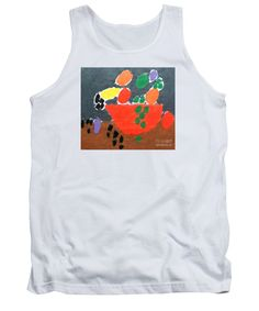 Patrick Francis White Designer Tank Top featuring the painting Bowl Of Fruit by Patrick Francis