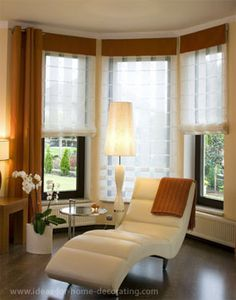 1000 images about bay window treatment inspiration on for Contemporary window treatments for bay windows