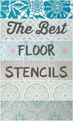 The best floor stencils for stenciling your wood or concrete floors. Plus helpful tips for DIY stenciled floors.