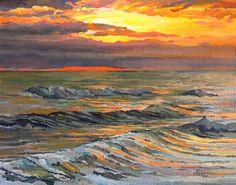 """""""Ocean Sunrise"""" - by Elaine Hahn"""
