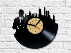 Vinyl Clock - Mad Men