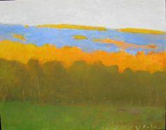 Wolf Kahn, Orange Blue and Dark Green