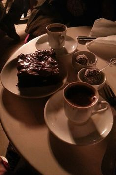 Coffee & brownie time