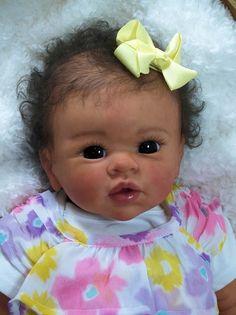 "Bonnie's Babies Reborn Adorable New Cradle Kit By Linda Murray ""misha"""