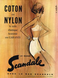 Publicite Advertising 045 1958 Scandale Gaine Coton OU Nylon   eBay