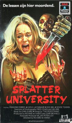 VHS NINJA — vhs-ninja:   Splatter University (1984) by Richard...
