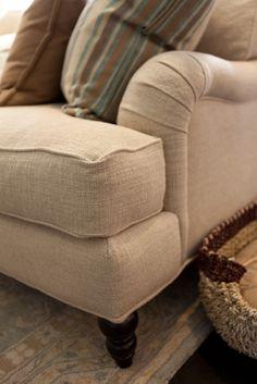 Sofa reupholstery.  No skirt.