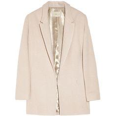 Halston Heritage Oversized bouclé wool-blend coat ($695) ❤ liked on Polyvore