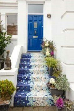 Mosaico na escada