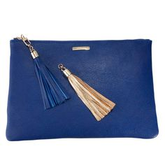 Indigo Uber Clutch - Limited Edition French Leather