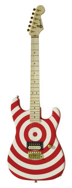 Charvel USA San Dimas Retro Electric Guitar (Bullseye with Maple Neck)